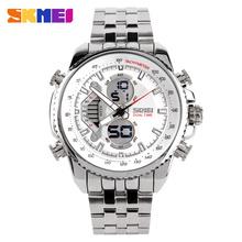 Famosa marca homens Sports relógios completa Steel Watch Masculino moda relógio de quartzo LED militar impermeável relógio de pulso Relogio Masculino