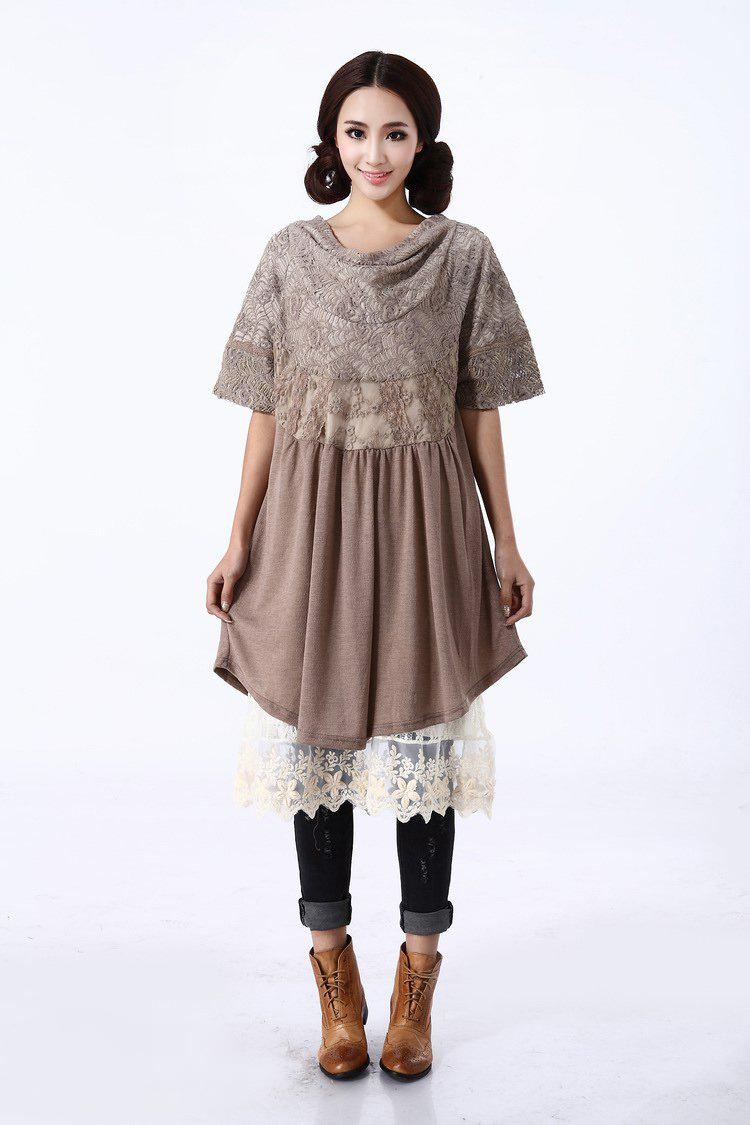 tunic vestidos femininos robe elbise lolita mujer mori  wool maxi batas vestido de festa longo crochet women retro dress