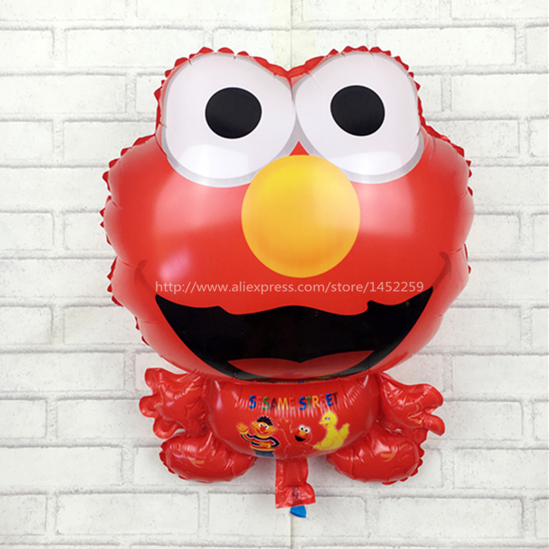 New 62x45cm standing twinkle elmo balloon sesame street balloon softplay children gift inflatable toys party supply(China (Mainland))