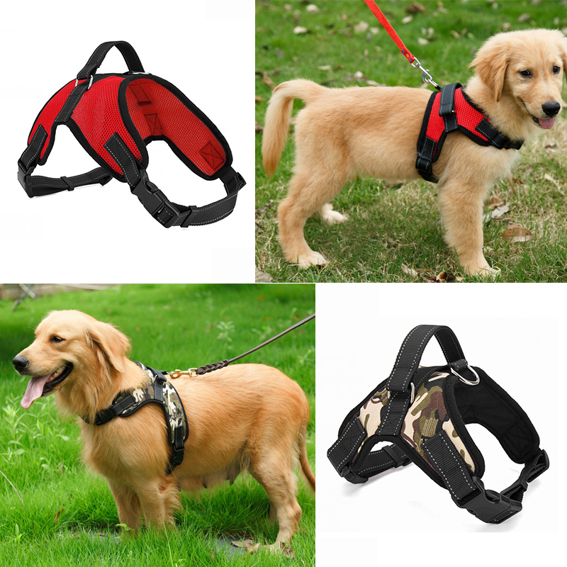 Big Dog Soft Adjustable Harness Pet Large Dog Walk Out Harness Vest Collar Hand Strap for Small and Large Dogs Pitbulls(China (Mainland))