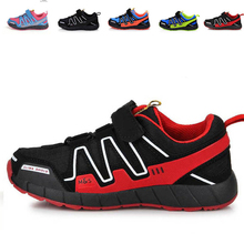 2016 Brand New Sports Boys Girls Shoes Children Fashion Velcro Kids Solf Light Breathe Baby Shoes High Quality(China (Mainland))