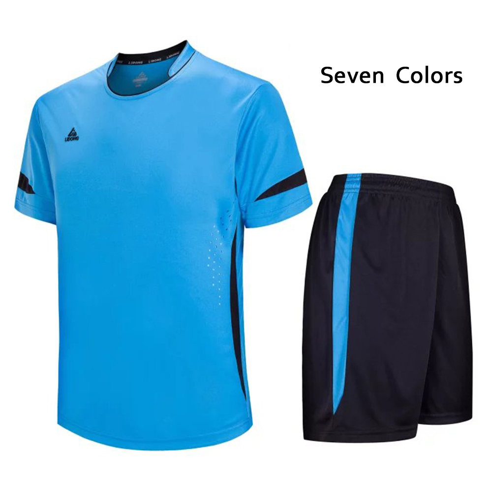 Soccer Jersey Man Football Training Suit Custom Football Uniform Short Sleeve&Short Man Tracksuit Free Shipping To France LD5015(China (Mainland))