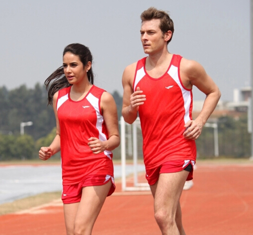 2016 Newest Men Running T shirt Track & Field Training Suit Sport Suit Woman Athlete Fast Running Match Jersey(China (Mainland))