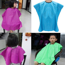 New Children Salon Waterproof Hair Cut Hairdressing 1 PC Barbers Cape Gown Cloth Free Shipping(China (Mainland))
