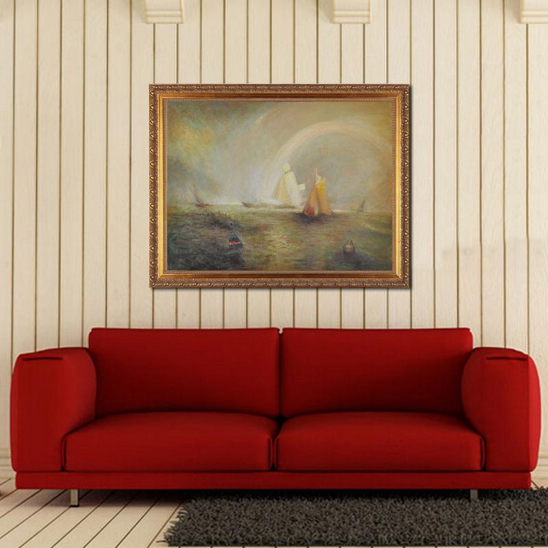 100% Handmade Canvas Oil Painting Sea And Boat Landscape Picture Classic Artwork Museum High Quality On Canvas No Frame MP008(China (Mainland))