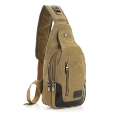 70PCS/LOT Men's Canvas Leather Messenger/Sling Back Pack