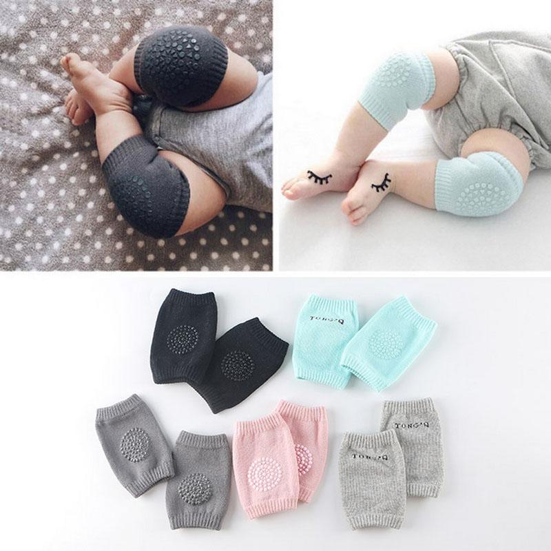 2Pcs New Cotton Summer Baby Knee Pads Kids Anti Slip Crawl Necessary Knee Protector Baby Leg Warmers