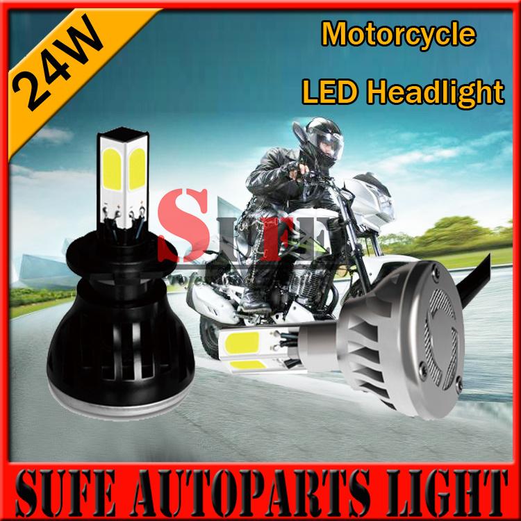24W Motorcycle LED Headlight H6M/H4/P15D25-3/S2(BA20D) 4 in1 2400LM LED 24W 6000K Hi/Lo Bulb Light Headlight KITS