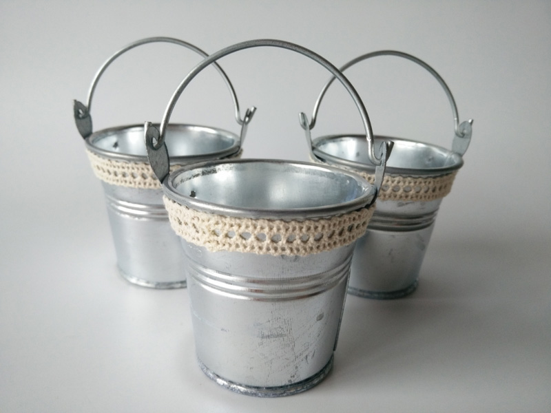 Small galvanized pails promotion shop for promotional for Tiny metal buckets