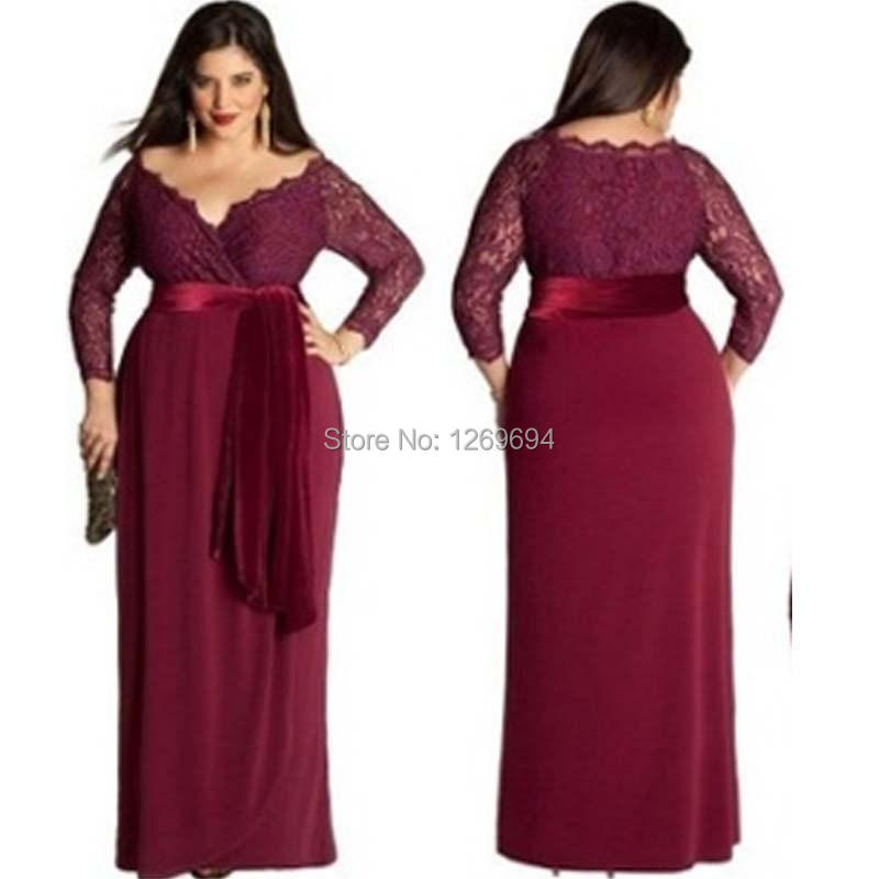 plus length dresses royal blue