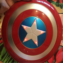 The Avengers Captain 32CM America Shield Light-Emitting & Sound Cosplay property Toy Metallic shield Red/Blue(China (Mainland))