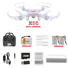 X5C RC Drone with Camera 720P HD Remote Control Quadcopter Helicopter 2.4G 6-Axis Professional Dron / X5 Drones without camera(China (Mainland))