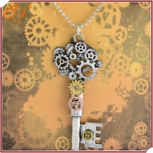 Restoring ancient ways in Europe and the detonation model accessories steampunk series gear type key pendant necklace