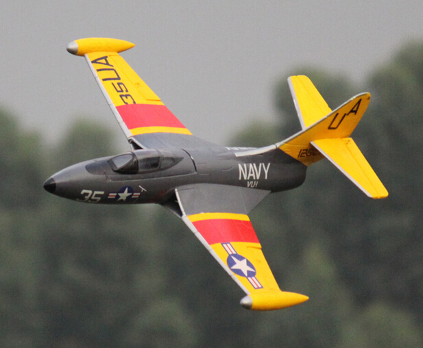 Freewing F9F 64mm PNP format EDF jet plane epo scaled jet RC model aircraft panther(China (Mainland))