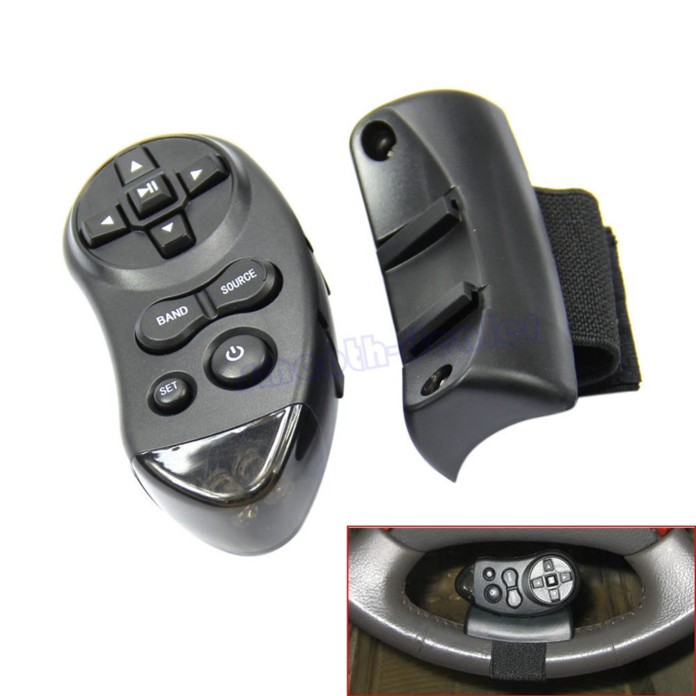 Free Shipping Car Universal Steering Wheel Remote Control Learning For Car CD DVD VCD(China (Mainland))