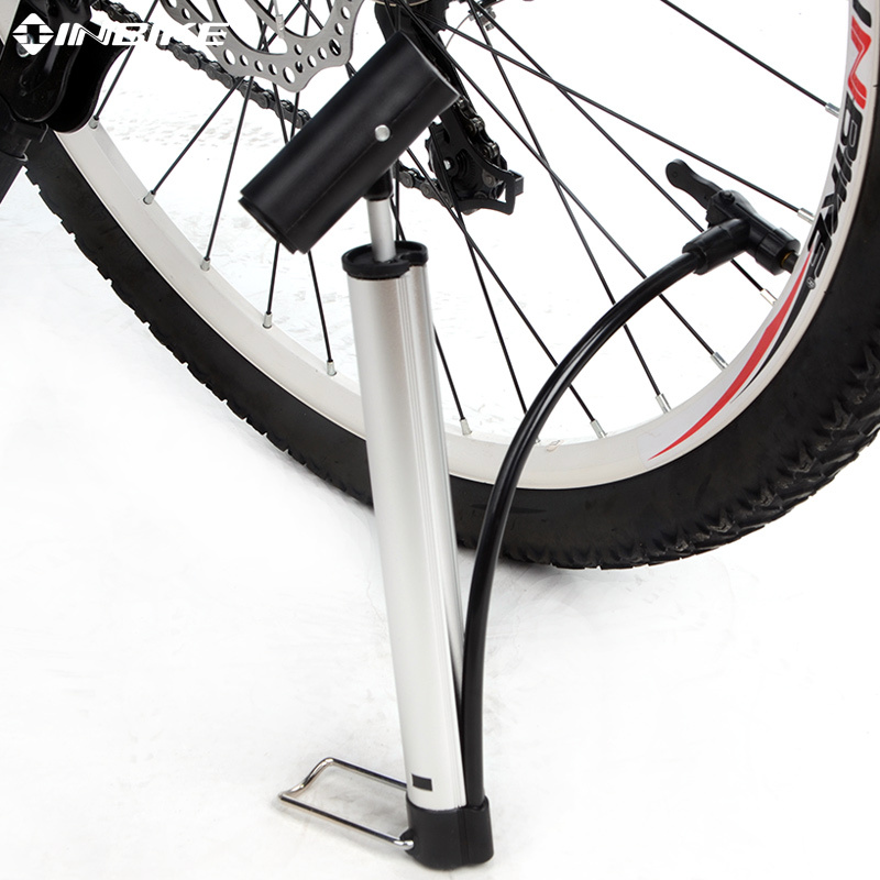 INBIKE MINI Portable Foldable Bike Air Pump Cycling High-Pressure MTB Road Bicycle Inflator 31.3cm Pump for Bike Accessories(China (Mainland))