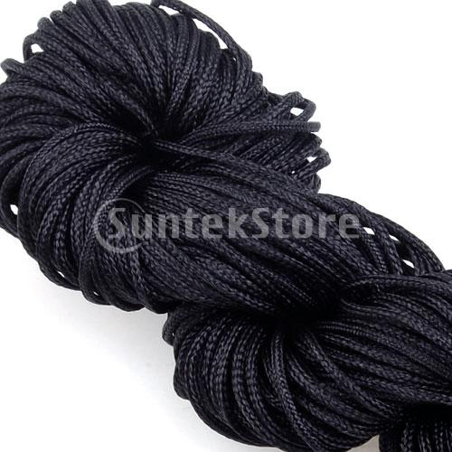 Free Shipping 1mm Nylon Cord Chinese Knot Cord Jewelry Cord 27yd - Black(China (Mainland))