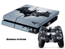 Batman PS4 Sticker PS4 Skin PS4 Stickers + 2Pcs Controller Skin Console Stickers PS4 Protective Skin