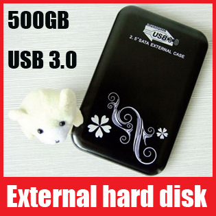 "Free Shipping! 500GB 2.5""external hard disk,hard disk,hddExternal Mobile Hard Drive Disk USB3.0 Support Wholesale!High Quality!"