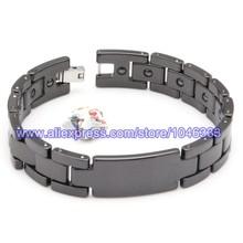2015 new fashion  tungsten steel bracelet magnet stone bracelet keep health anti-fatigue antiallergic bracelet 21cm(China (Mainland))