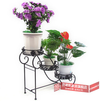 European style iron flower multilayer indoor/ outdoor flowerpot rack free shipping by china post airmail(China (Mainland))