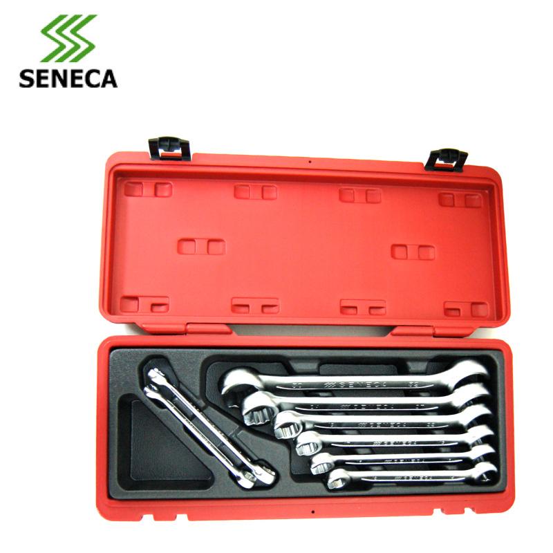 Фотография SENECA Taiwan 8 sets of polishing dual-purpose wrench pipe wrench set bayonet disassemble chrome vanadium steel