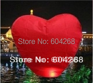 Free Shipping Heart Wishing Lamp SKY CHINESE LANTERNS BIRTHDAY WEDDING PARTY SKY LAMP 30Pcs/Lot