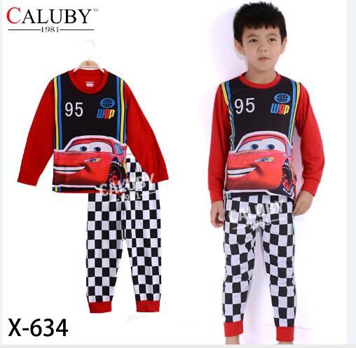X-634 pajama clothes set fashion snow cartoon princess elsa clothes floral solid kid baby girl children pajama clothing set(China (Mainland))