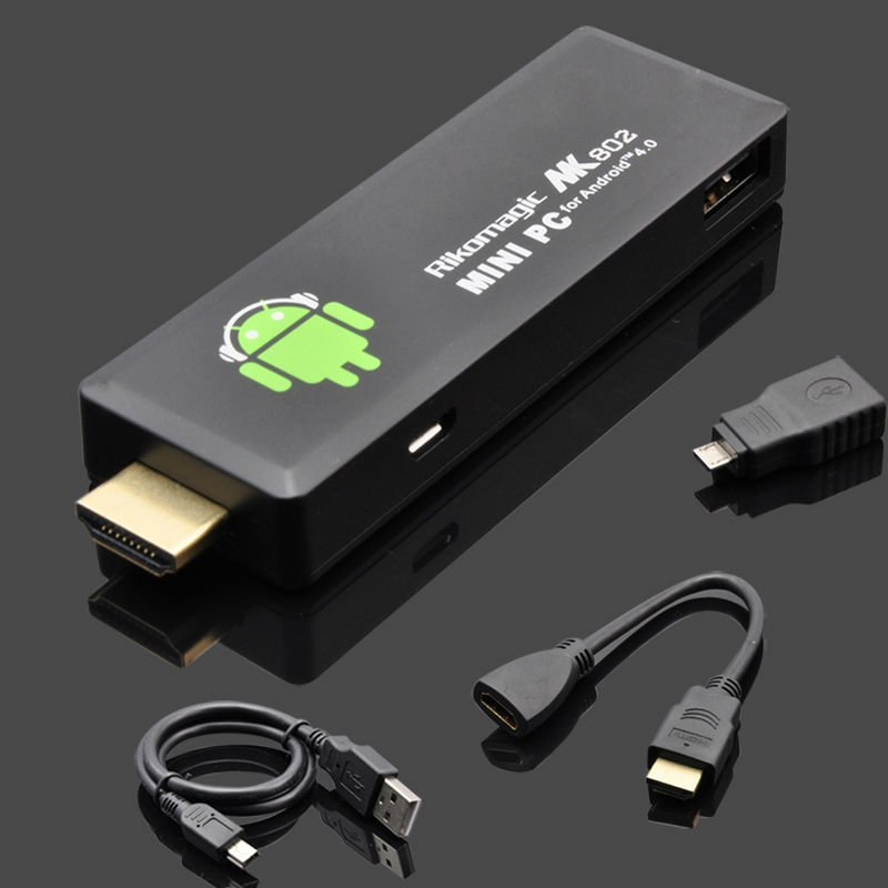 2012 New arrival!! promotional price , Rikomagic mk802 II Mini Android 4.0 PC Android TV Box A10 Cortex A8 1GB RAM 4G ROM(China (Mainland))