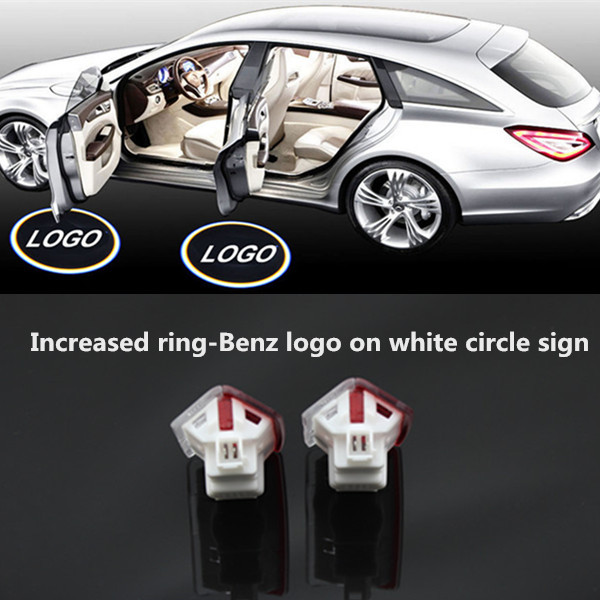 Free shipping,2 x No error HD car styling Laser LED Door courtesy Shadow Projector Lights for Mercedes W166 ML 2012-15(China (Mainland))