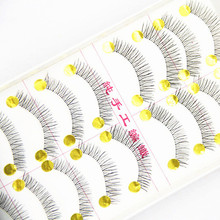 10Pairs Makeup Handmade Natural Fashion Sparse become warped and long False Eyelashes Eye Lashes 217 maquiagem