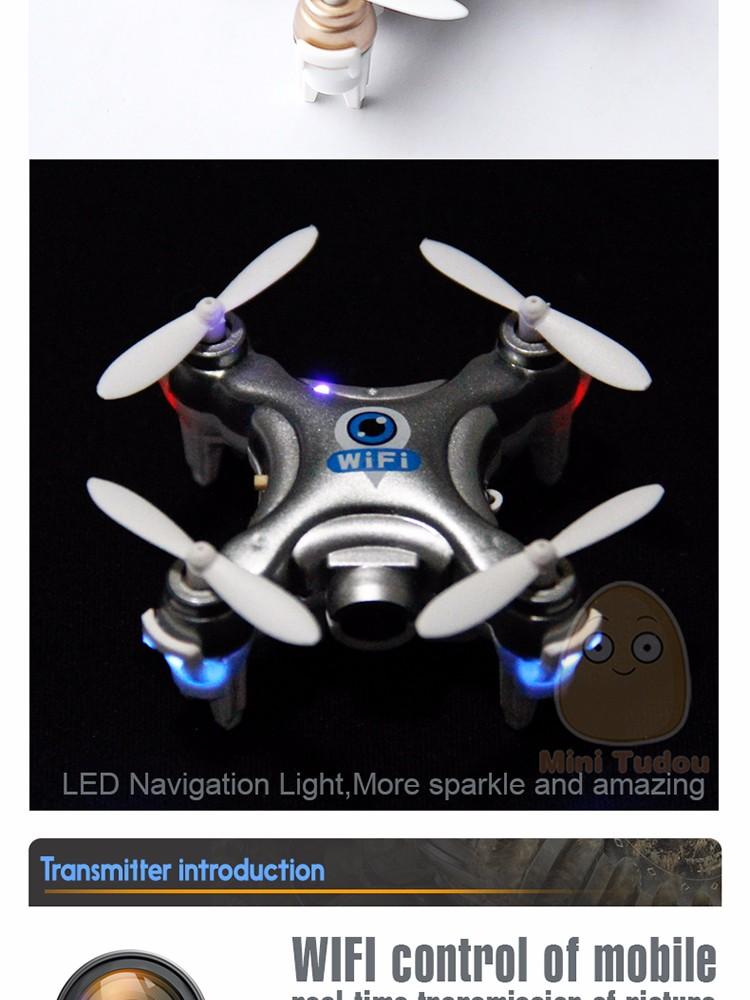 Minitudou 2016 New Mini Remote Control Helicopter CX-10W RC Quadrocopter With Camera Mini Drones CX-10C FPV