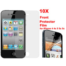 Special Price 10 pcs/lot Clear Transparent Front Screen Protector Guard Film for iPhone 5/5s Free shipping WHD705