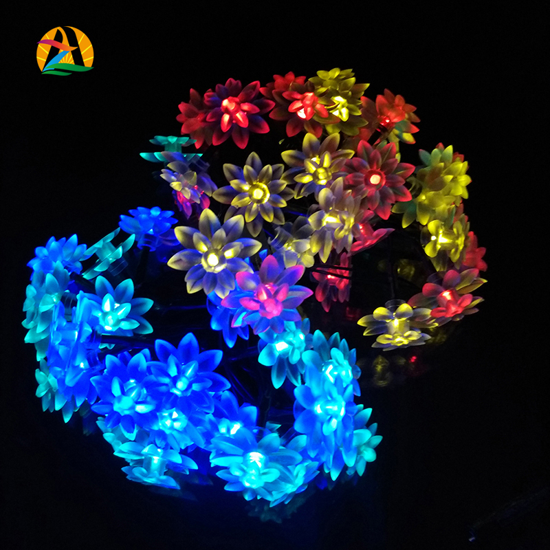 22M 200LED Home and Garden LED Solar Lotus String Lights Garlands Event's Halloween Hotels Bars Parks Decoration Lightings(China (Mainland))