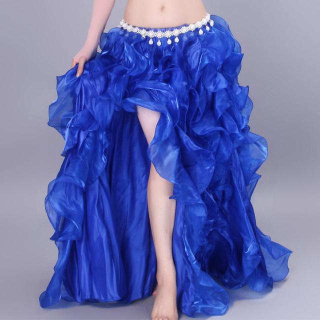 8 Цветов 2016 Новый Танец Живота Одежда Длинные Макси Юбки Женщин Восточного Танца Живота Юбка Профессиональный