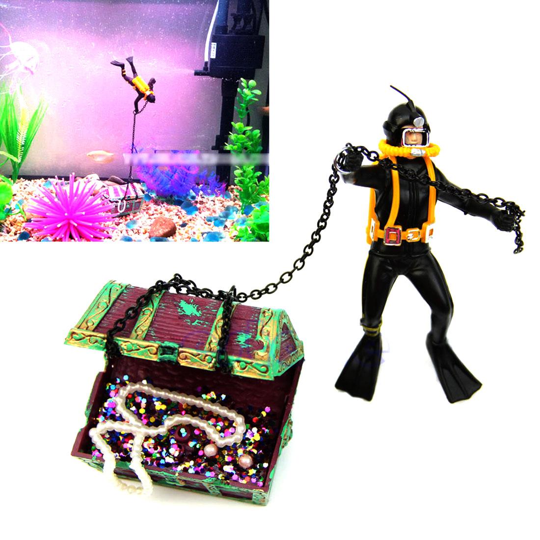 Popular unique fish tanks buy cheap unique fish tanks lots for Aquarium scuba diver decoration