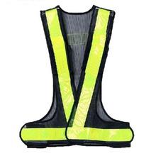 Hi-Viz Reflective Vest High Visibility Warning Traffic Construction Safety Gear Black Yellow(China (Mainland))