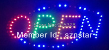 Free shipping LED screen Electronic window word sign neon lamp Business poster sign board Moving display light LED open sign(China (Mainland))