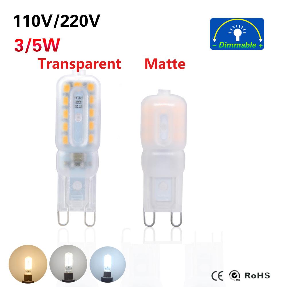 2016 New Mini Bombillas LED G9 Light Bulb 3W 5W SMD2835 Lamparas LED Lamp G9 LED 220V 230V 240V Ampoule Luz Chandelier Lights(China (Mainland))