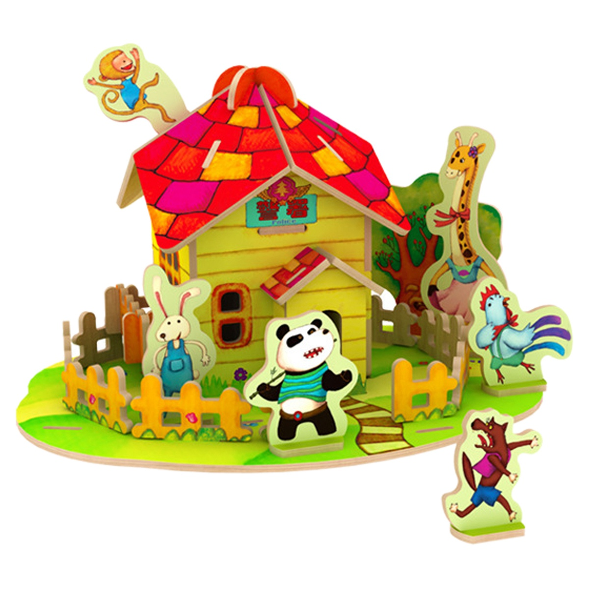 Robotime 7D Wood Jigsaw Puzzle DIY Model Forest Cabin(China (Mainland))