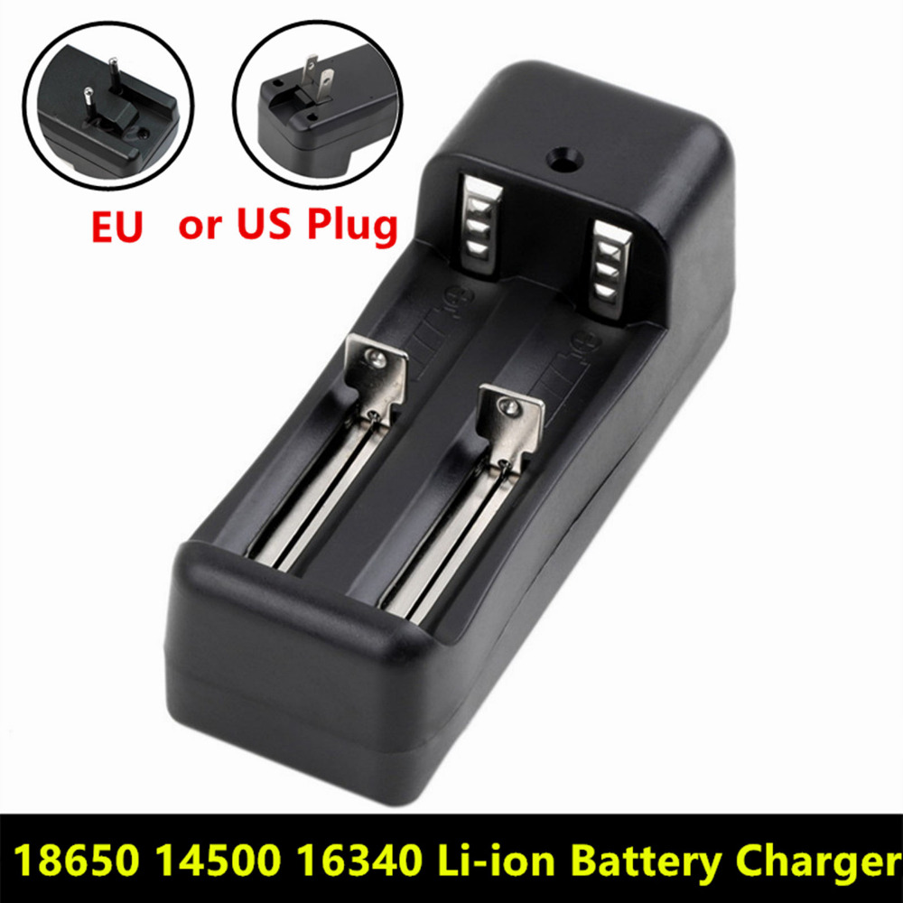 Universal Dual Battery Charger For 18650 14500 16340 26650 Rechargeable Li-ion battery charger EU / US(China (Mainland))