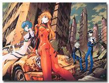 Neon Genesis Evangelion Asuka Ayanami Anime Silk Poster Print 24×36″ 005