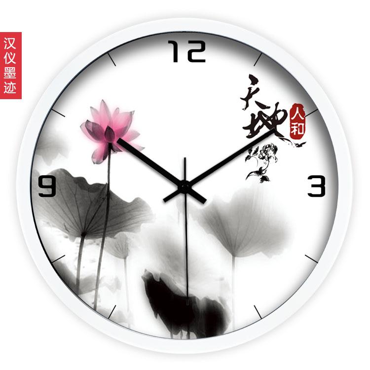 creative fashion wall clock/art Chinese ink hanging clock/chinese style wall clock/super mute wall clock for living room(China (Mainland))