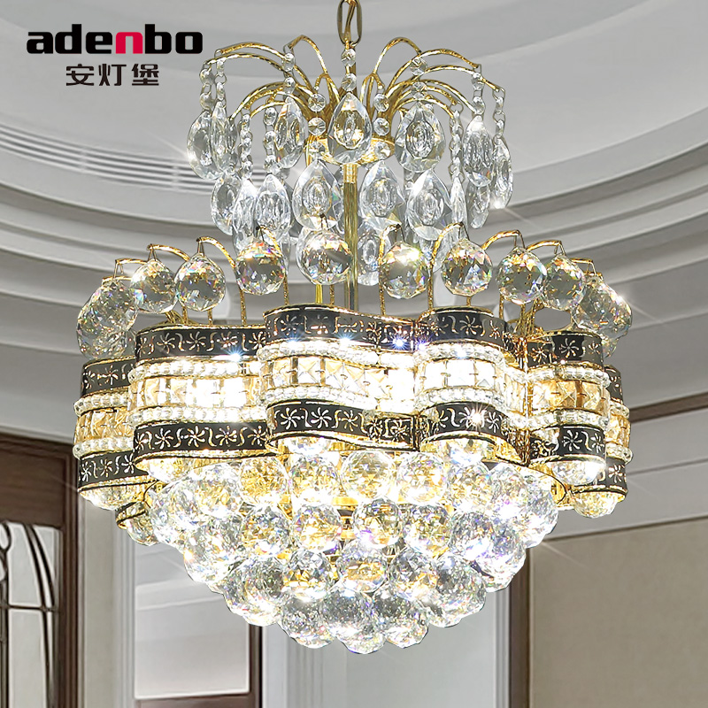 2016 new modern gold led crystal chandeliers light 48cm ceiling chandelier fixtures for dining - Dining room crystal chandelier ...