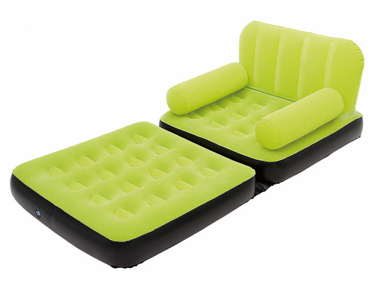 Inflatable sofa single flocking sofa bed flocking inflatable sofa bed folding