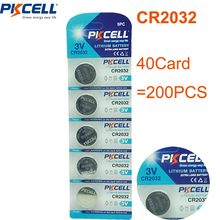 Buy 200Pcs/40Card 3V Battery CR2032 DL2032 ECR2032 GPCR2032 CR 2032 Lithium Button Battery Coin Cell Batteries for $33.12 in AliExpress store