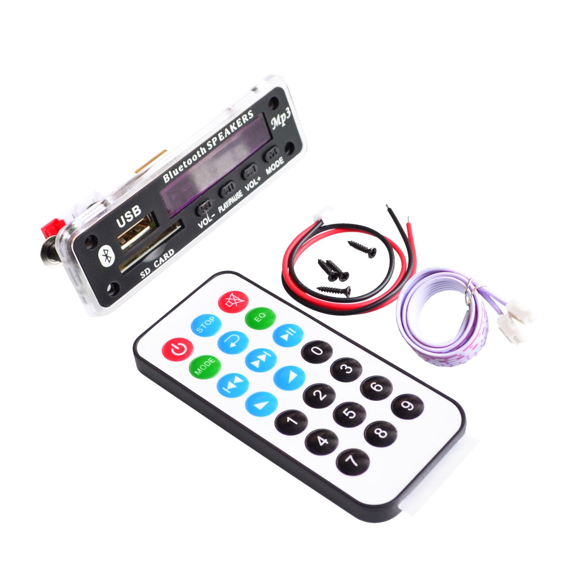 Free Shipping 5sets Bluetooth MP3 Decoding Board Module w/ SD Card Slot / USB / FM / Remote Decoding Board Module M011(China (Mainland))