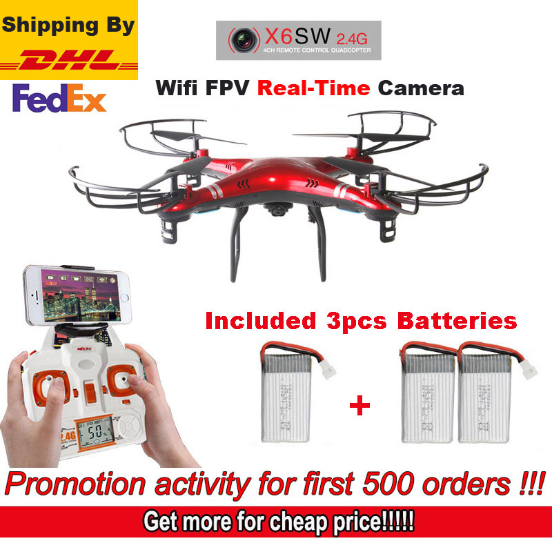 Free shipping by DHL FEDEX Red X6SW  RC quadcopter 6-axis helicopter C4005 wireless FPV camera (Sima x5sw upgrade version)