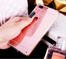 Hot! Luxury Mirror Electroplating Soft Clear TPU Case cover huawei P8 / lite P9 Plus G9 - Shenzhen BY Girl Trading company Co.,Ltd store
