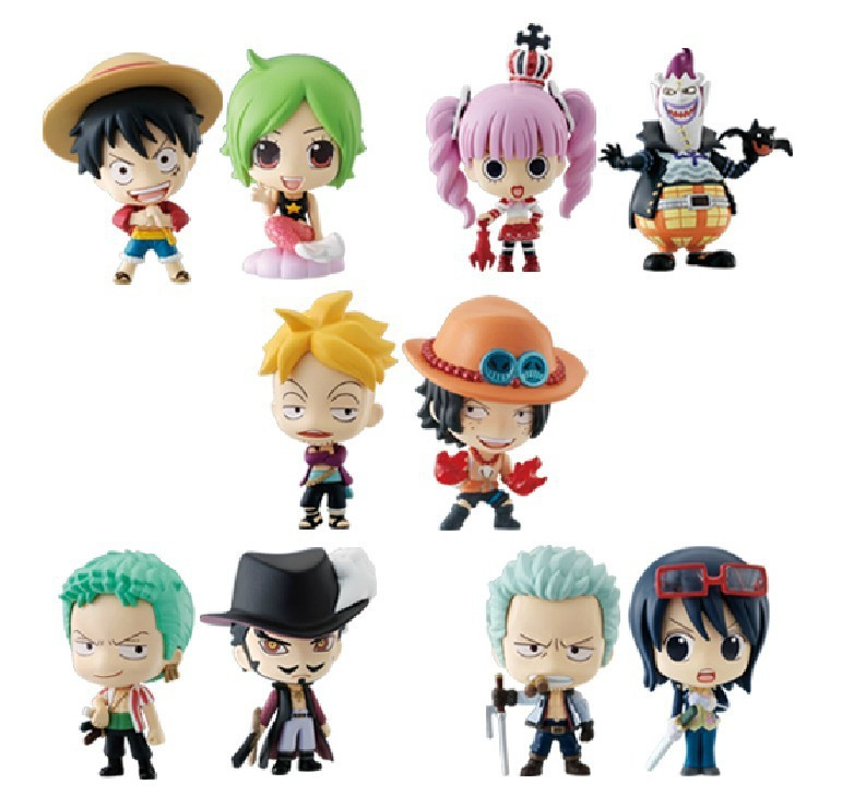 Hot anime One Piece straw hat road mini action figures flying Sanji Chart chopper toys 10 set dragon ball minions Resin(China (Mainland))